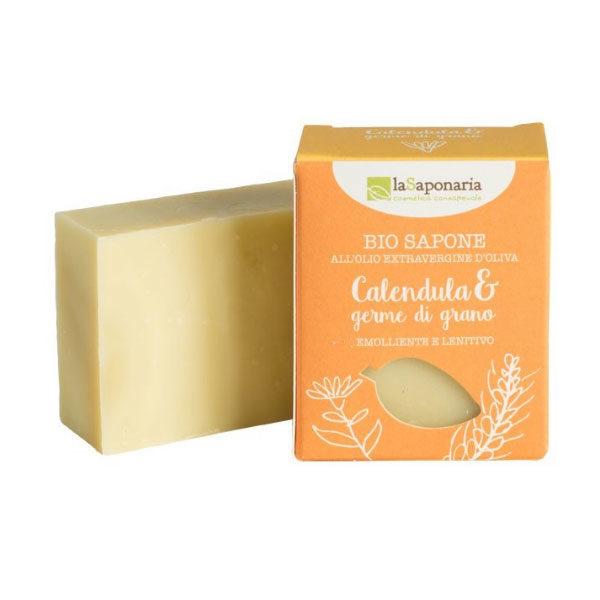 sapone-naturale-calendula-e-germe-di-grano-100gr-lasaponaria